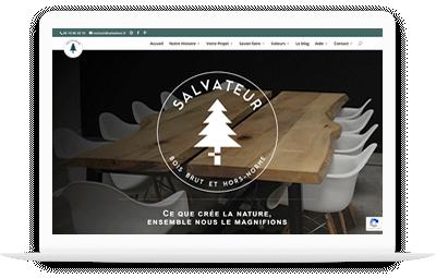 Site Salvateur.fr, meubles en bois bruts et hors normes
