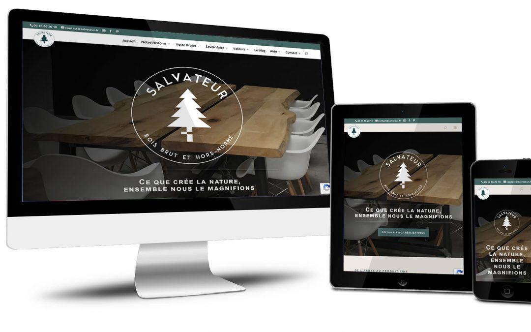 Salvateur, site d'un créateur de mobilier en bois bruts